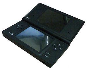 Español: Una Nintendo DSi Negra.
