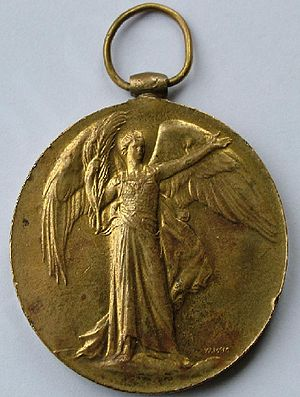 English: United Kingdom Victory Medal - obvers...