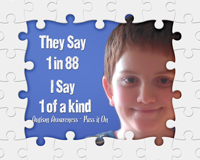 One of a Kind, Andy, Autism Awareness Graphics