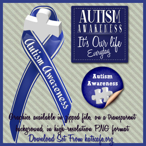 Autism Awareness Graphic Set Available through Kat's Cafe, designed by Kat's Media & More