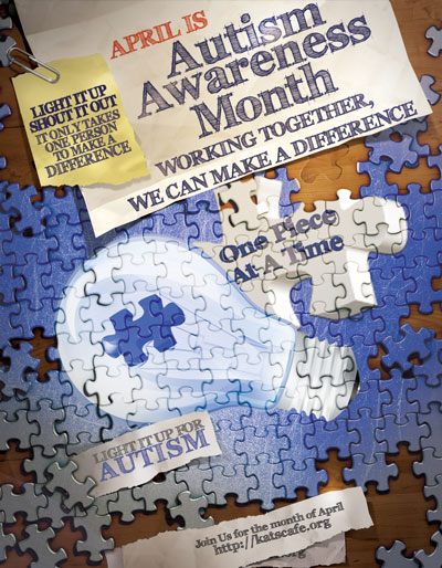 Autism Awareness Graphics - Flyer free to display for Autism Awareness Projects