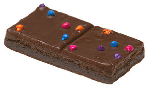 A Little Debbie Cosmic Brownie, by McKee Foods.