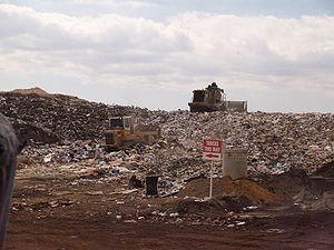 Active tipping area of an operating landfill i...