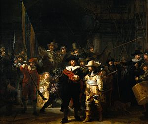 The Night Watch by Rembrandt, c.1642 (or The M...