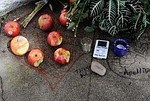 PALO ALTO, CA - OCTOBER 06:  Apples and an iPo...