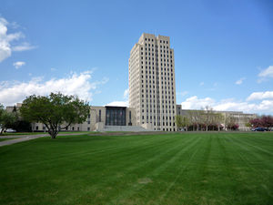 English: North Dakota State Capitol, Bismarck,...