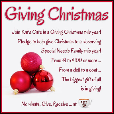 Join the Cafe in Giving Christmas this year