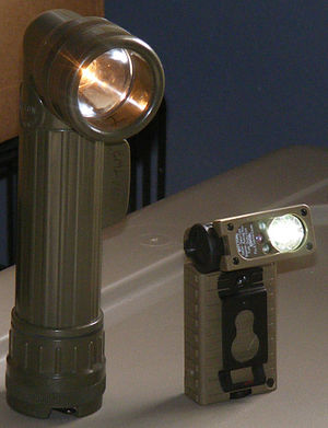 English: Two flashlights commonsly used by the...