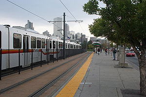 The Colfax at Auraria light rail station in De...